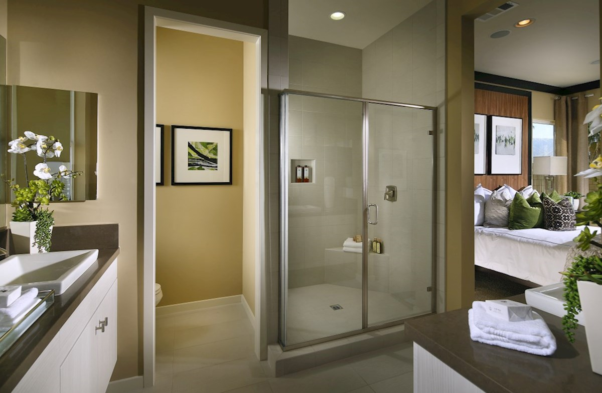 Residence 2 quick move-in Deluxe master bath with walk-in shower