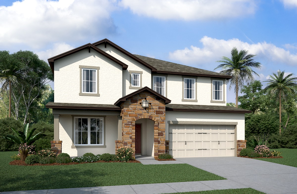 Two-story Tuscan Exterior