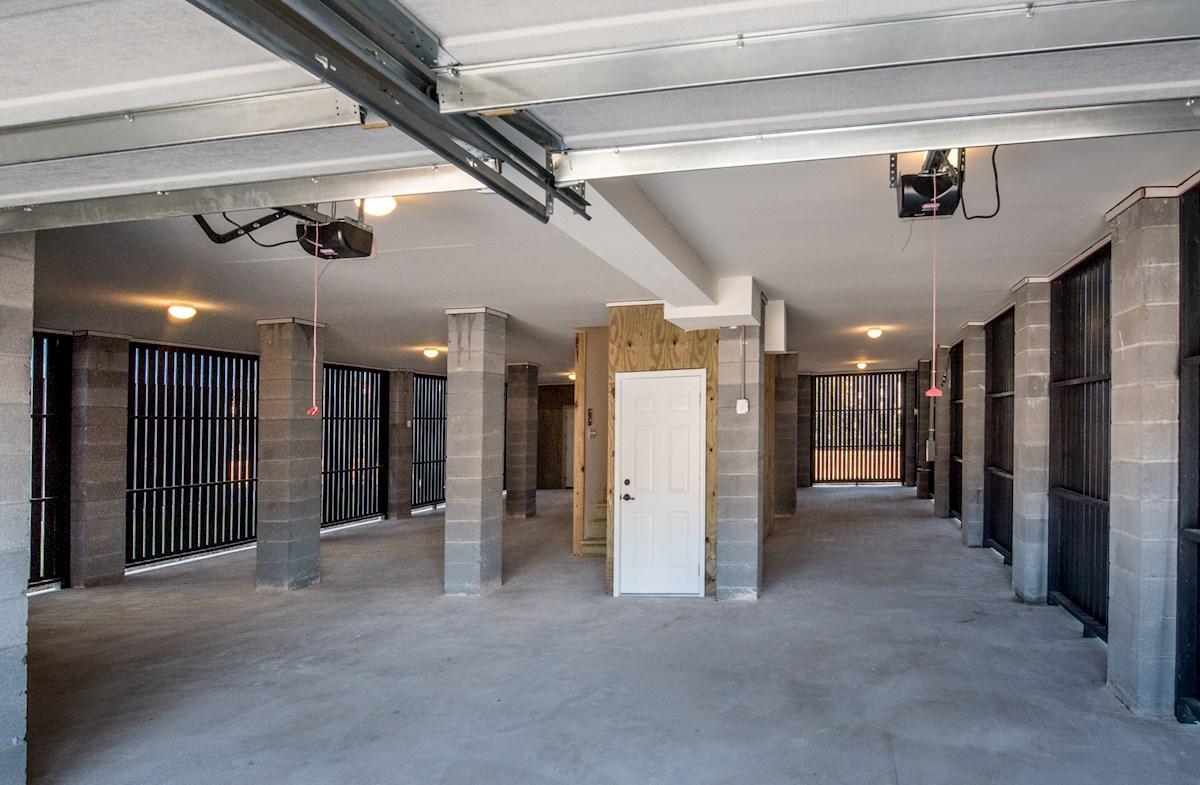 spacious drive-under garage
