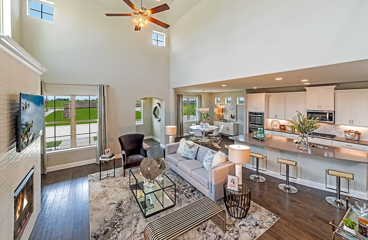 The Grove at Craig Ranch Brazos Brazos open great room and kitchen