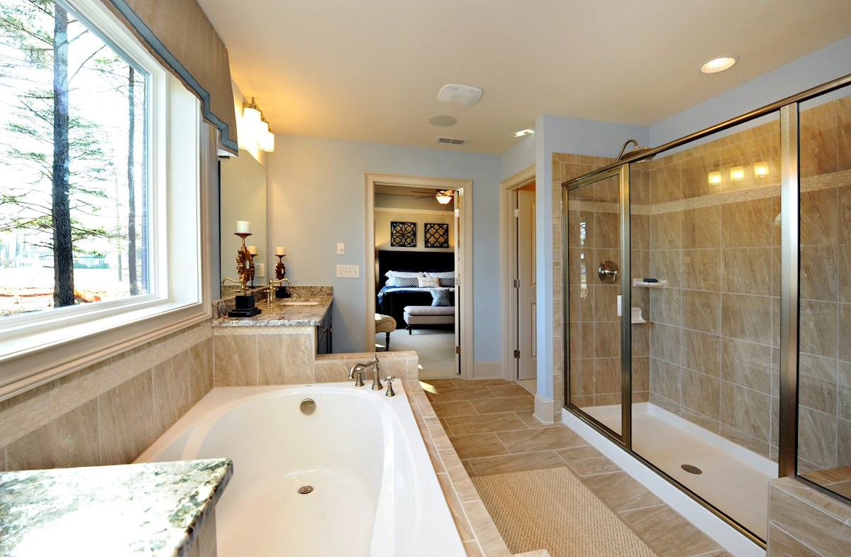 Sunset Glen Somerset luxurious master bath