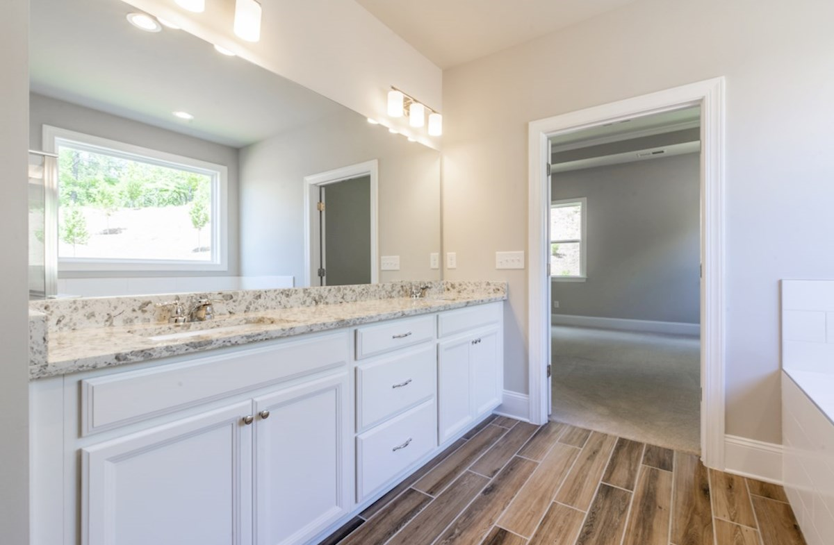 Mountain Park Overlook Fairfield Master Bathroom with dual sinks
