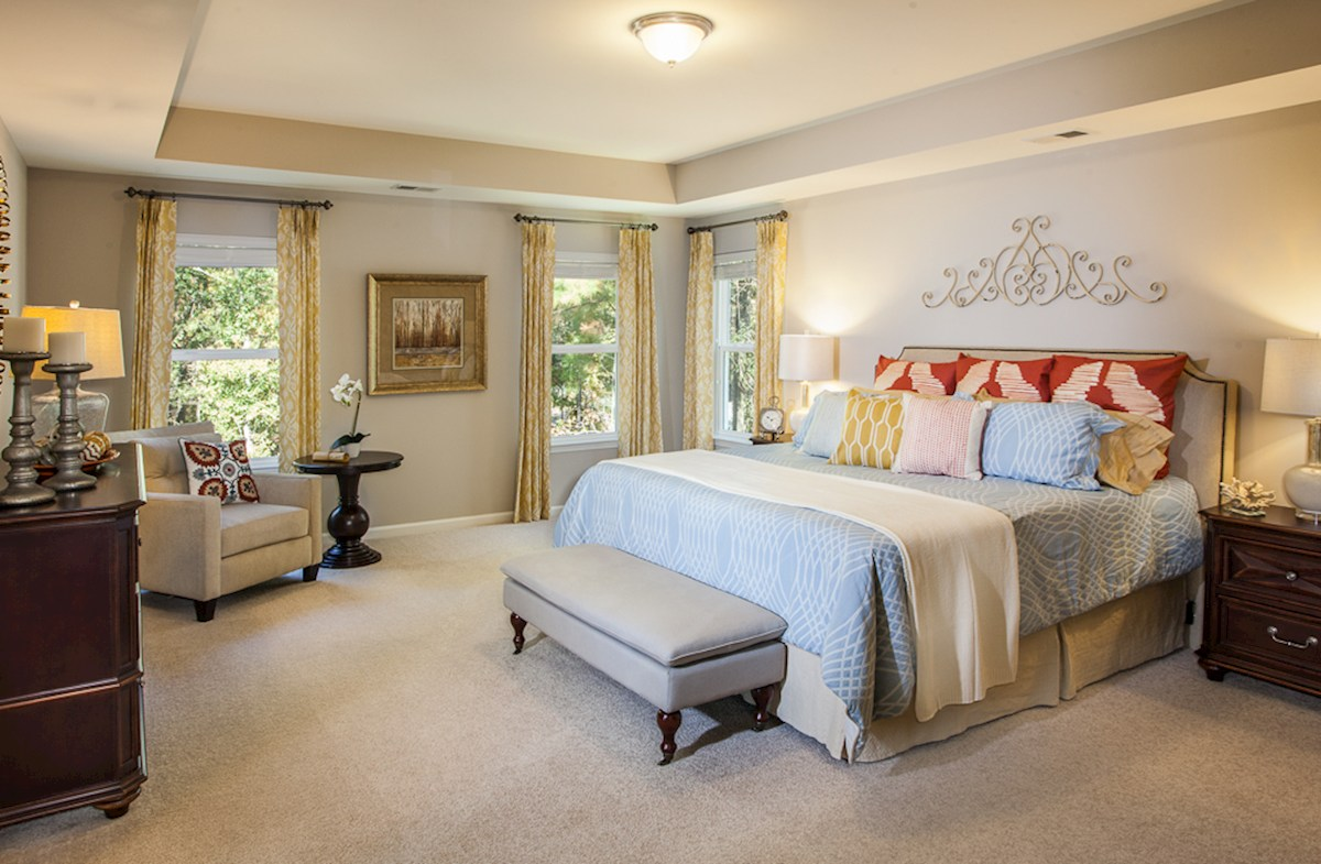 Jasmine Point at Lakes of Cane Bay Hayes peaceful master bedroom