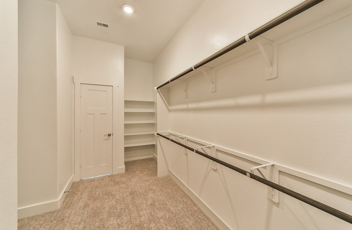 Reflection quick move-in master closet with built-in shelves