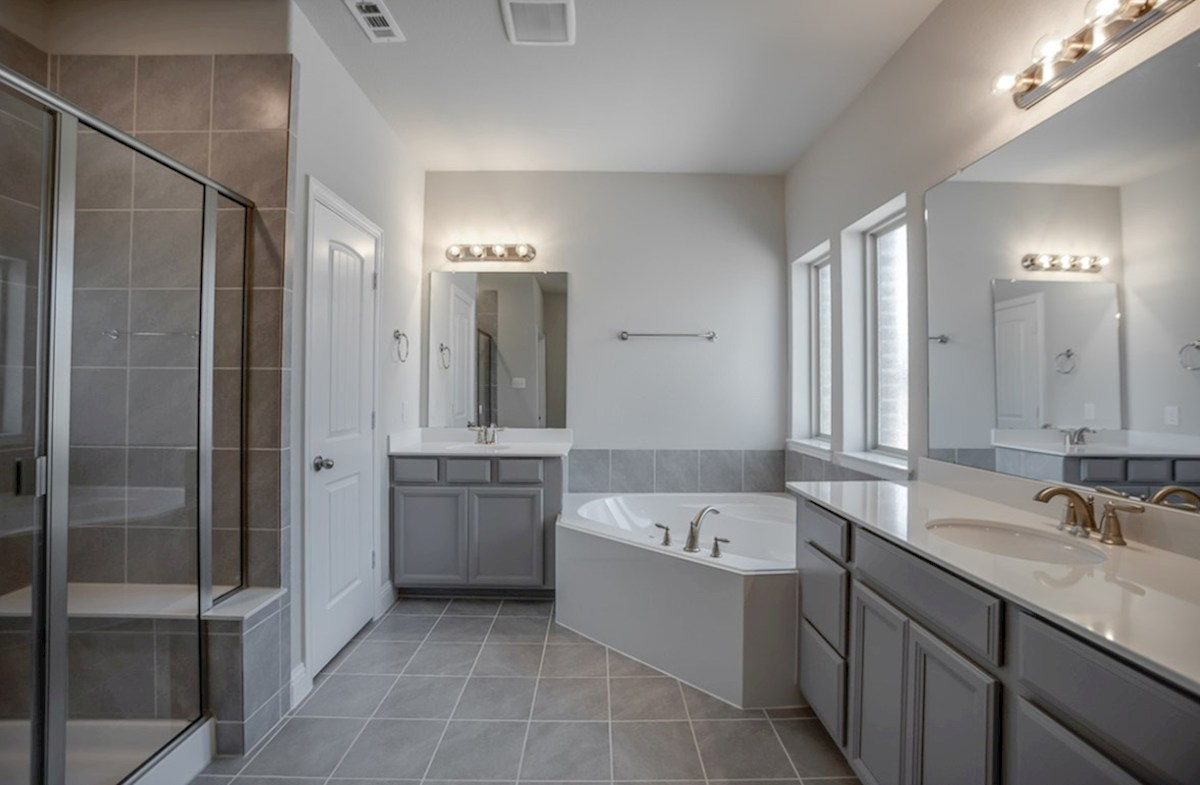 Stoney Creek Blakely Blakely master bathroom with separate tub and shower