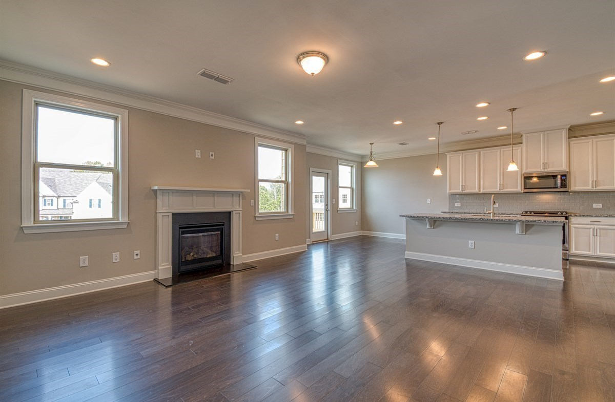 Chandler quick move-in Family room with fireplace