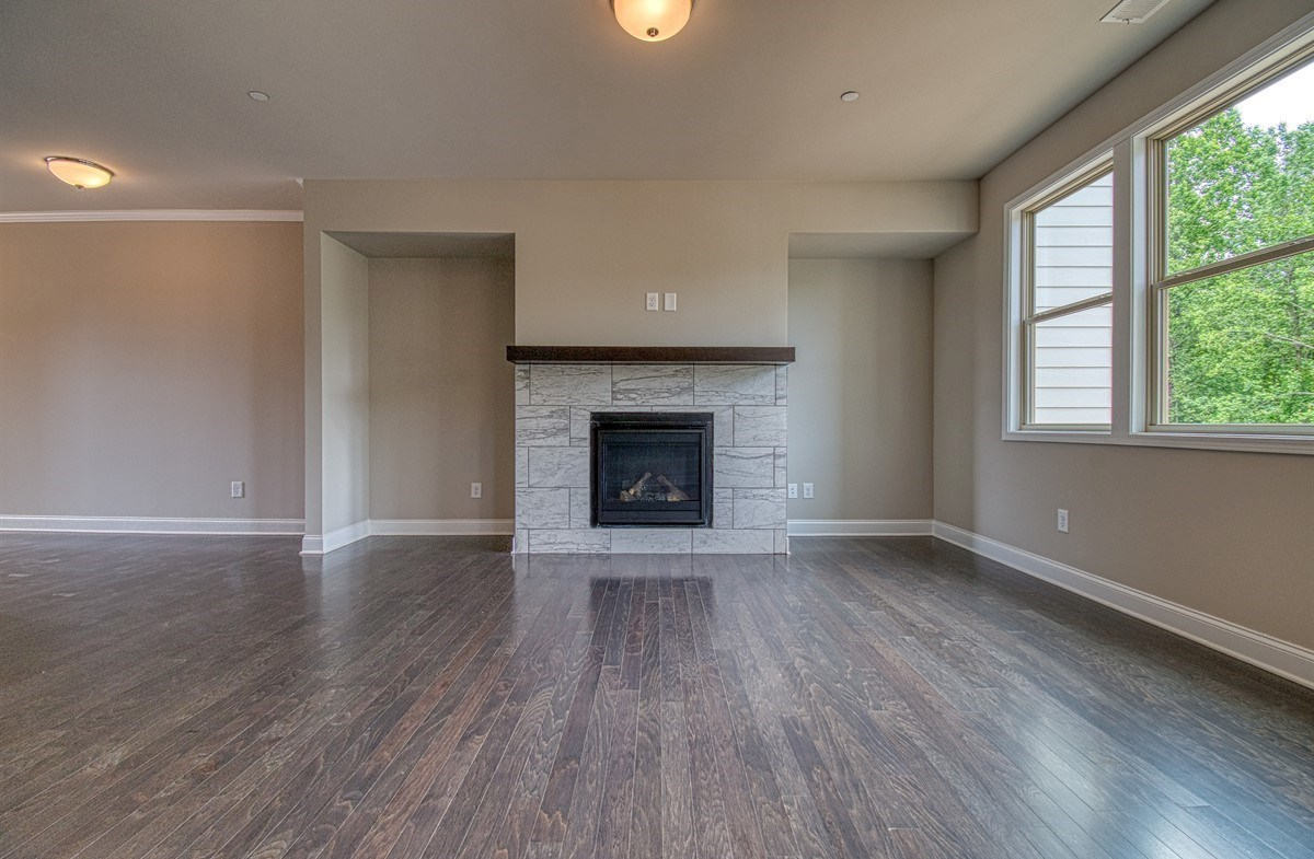 Lexington quick move-in Family Room with fireplace