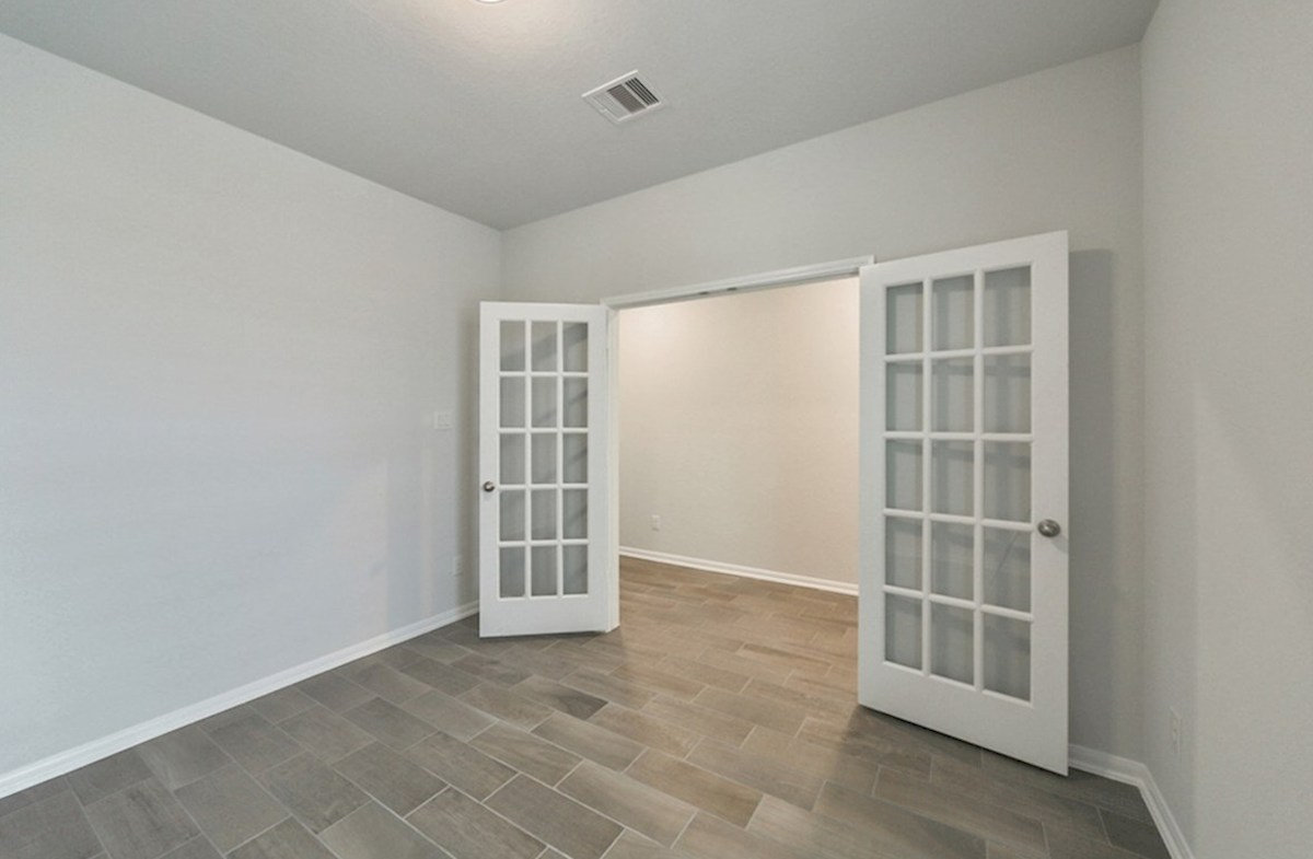 Franklin quick move-in study with French door entry and tile flooring