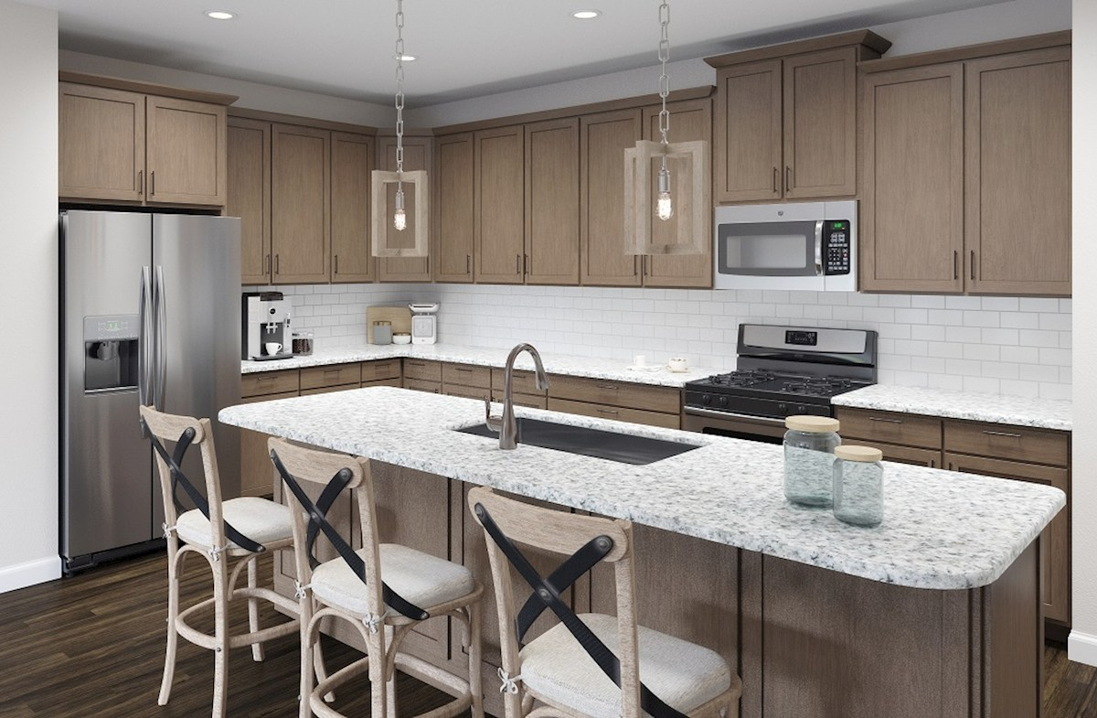 kitchen features granite countertops