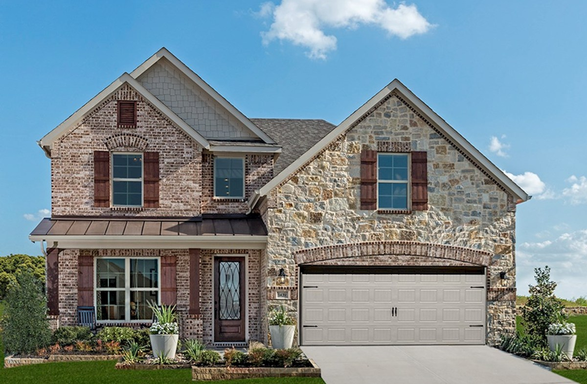 Brookhaven featuring stone and brick exterior