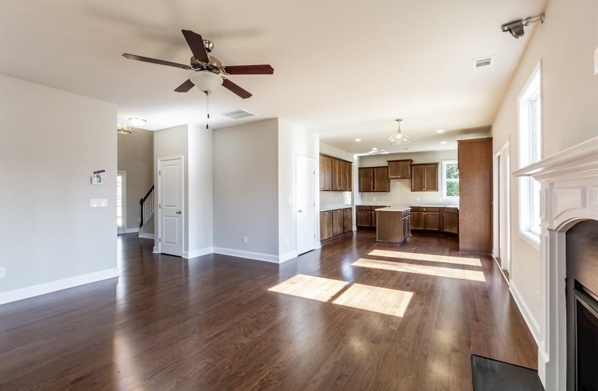 Bradshaw quick move-in Family Room with hardwood floors