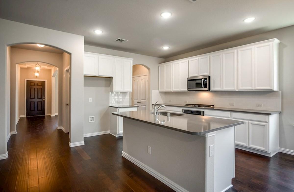 Prescott quick move-in kitchen includes white cabinets