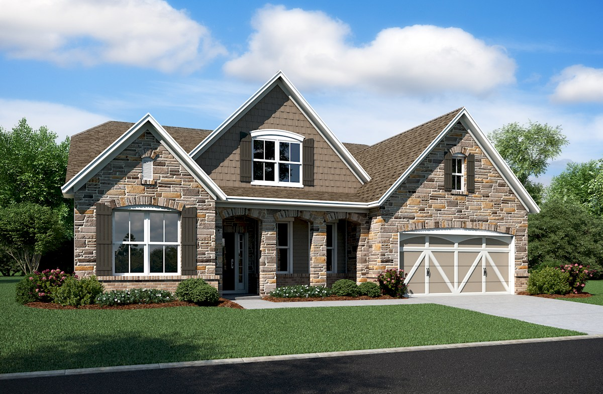 Charleston Home Plan In Reserve At Woodside Noblesville In Beazer Homes Beazer Homes