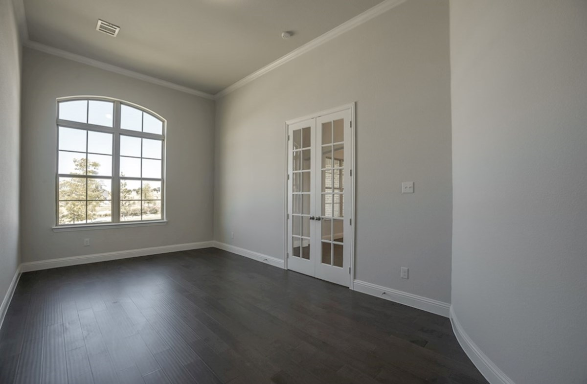 Madison quick move-in private study with crown moulding and French doors