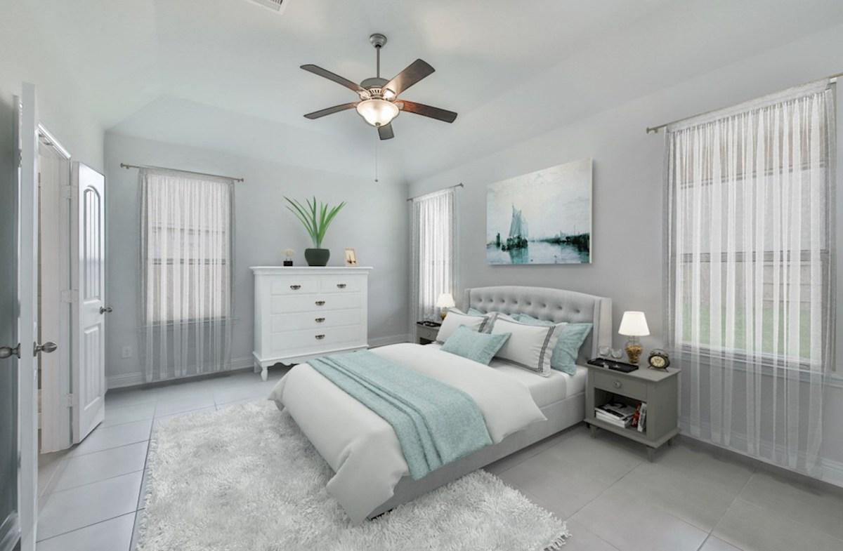Capri quick move-in master bedroom with tile flooring