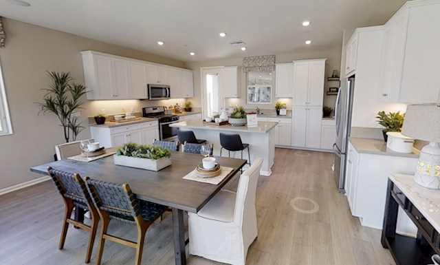 Interior virtual tour of the Olive floorplan at The Cottages