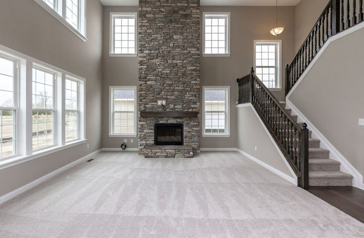 Oakhill quick move-in Floor to ceiling fireplace in great room