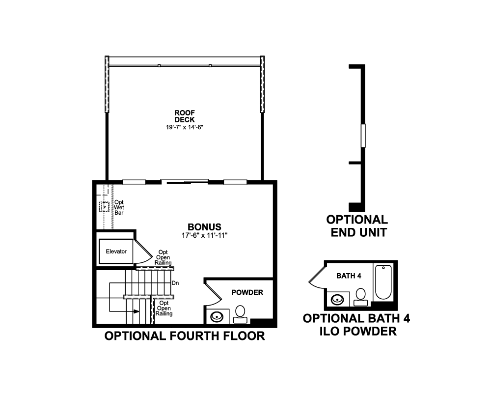 Main floor plan for 4th Floor