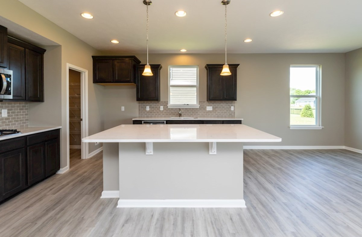 Shelby quick move-in gourmet kitchen with spacious island