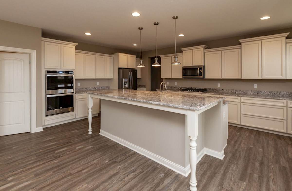 Oakhill quick move-in gourmet kitchen with stainless steel appliances