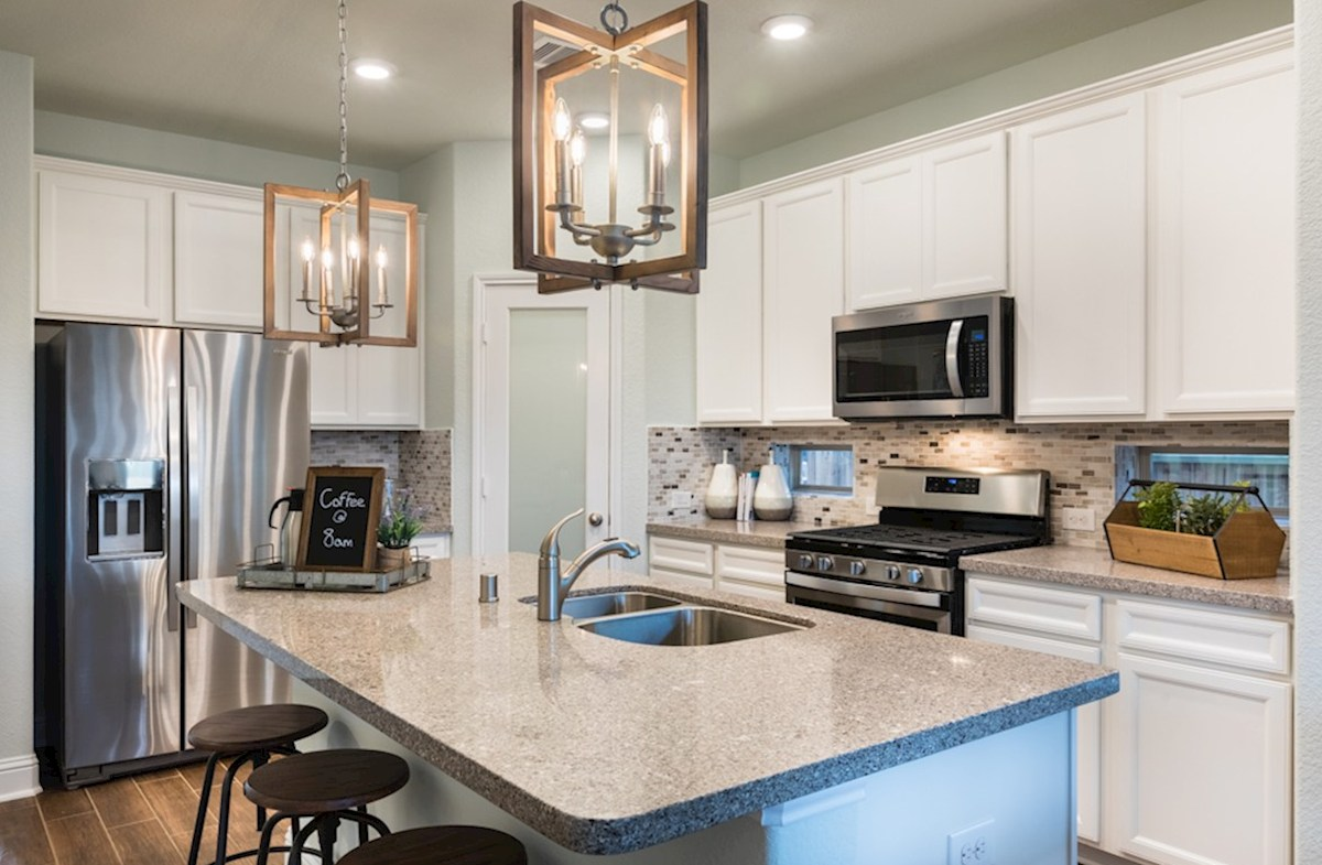 King Crossing Franklin cozy kitchen with spacious countertops