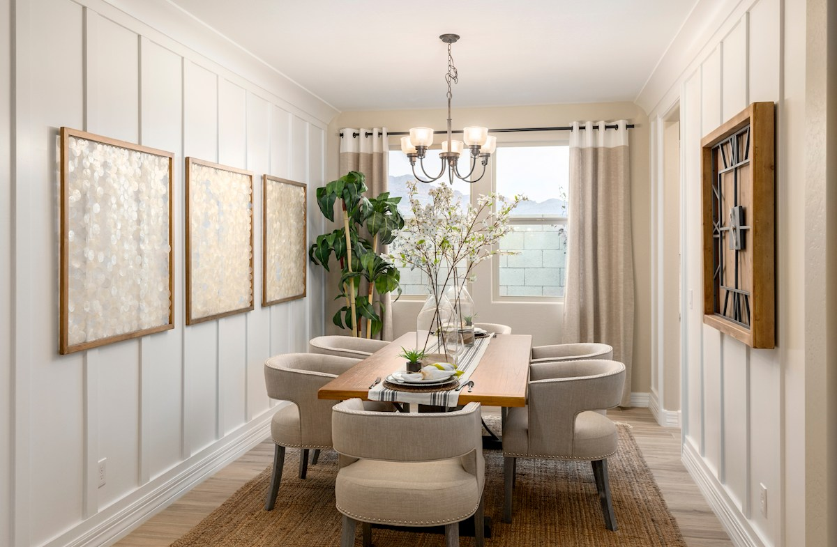 private dining room with pass-thru to kitchen