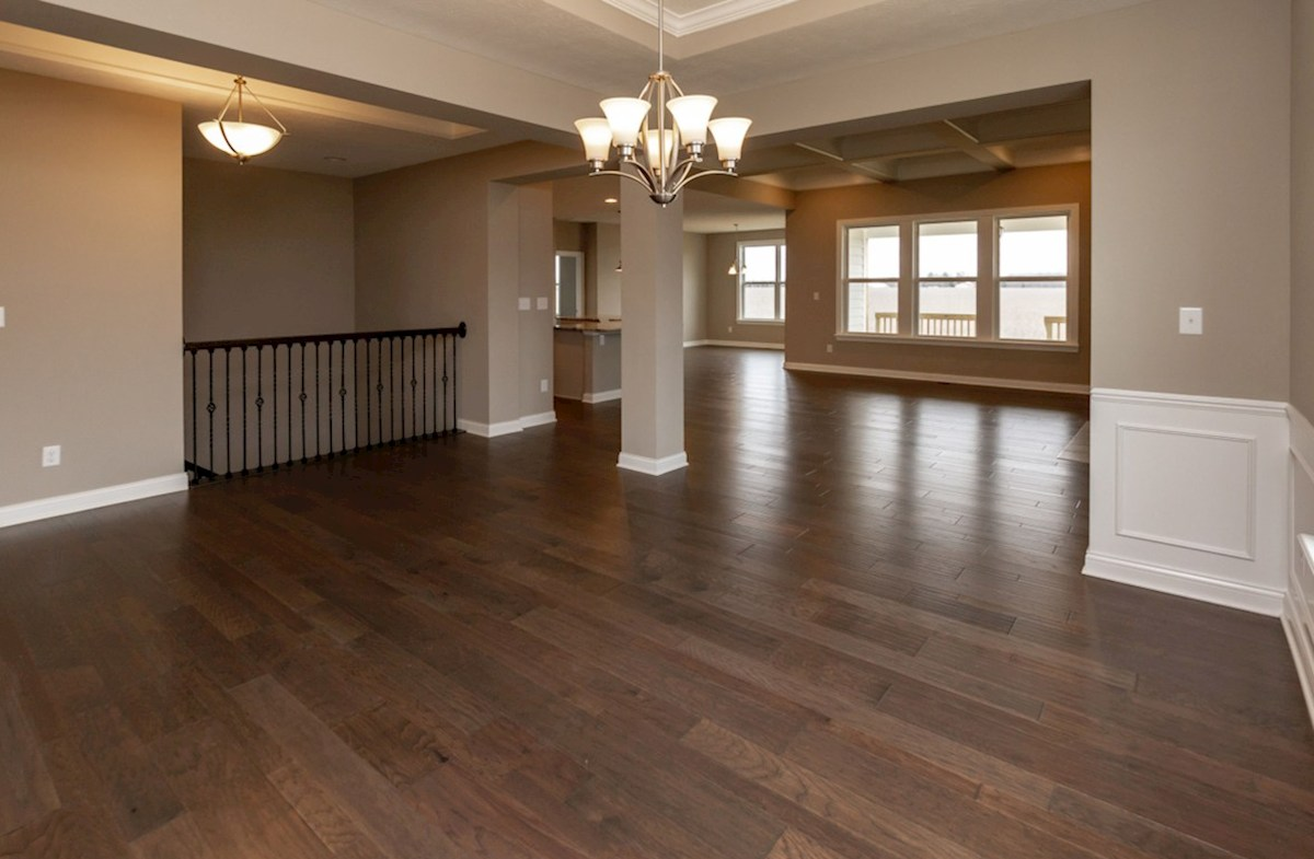 Capitol quick move-in formal dining room with hardwood floors