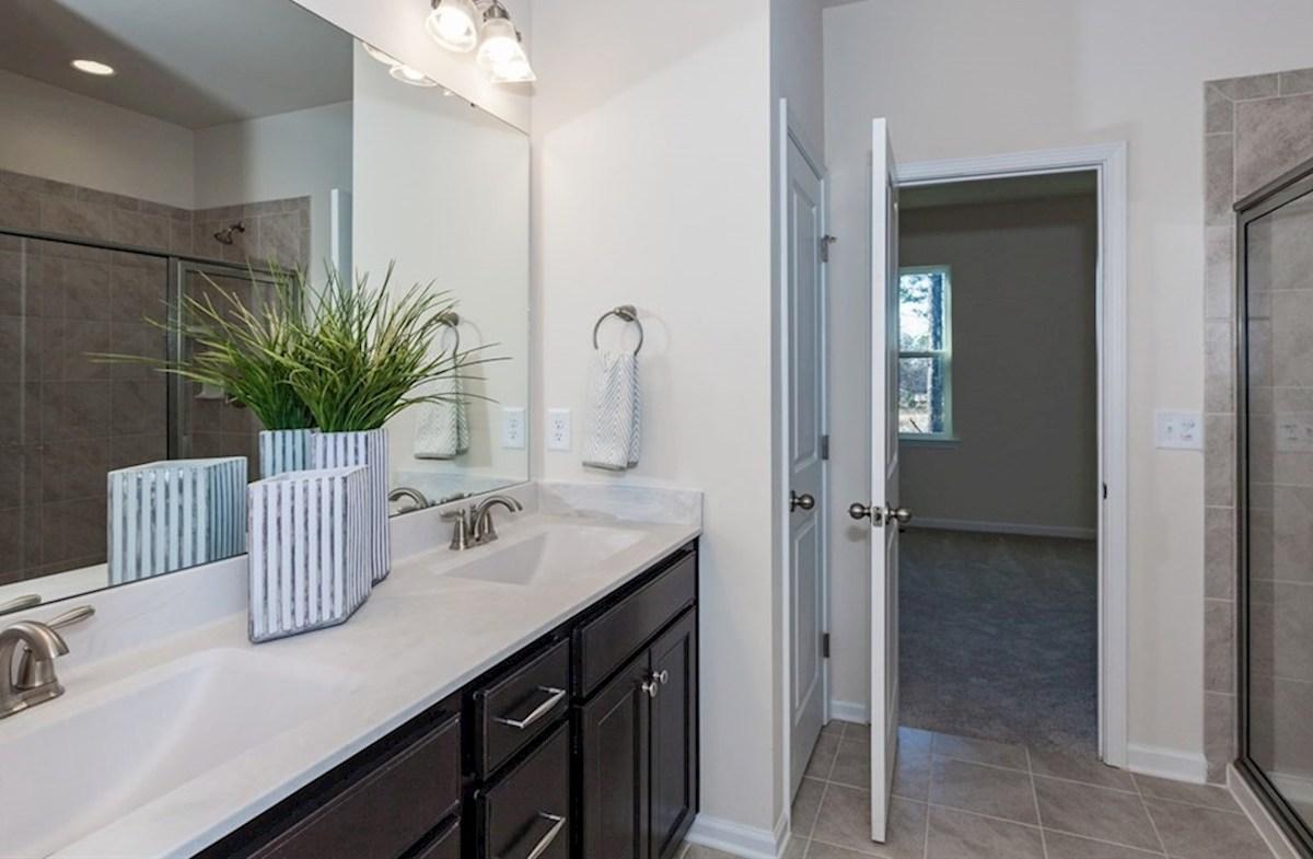 Peak 502 Olive tiled master bathroom