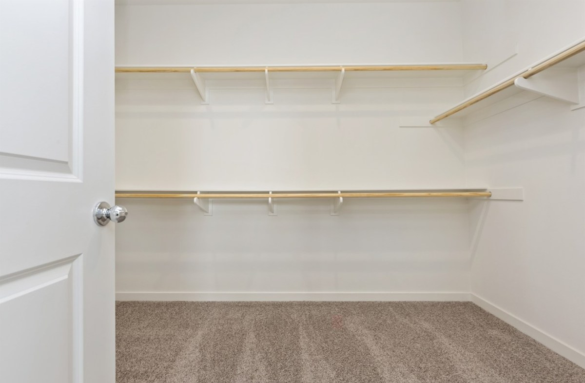 Sonoma quick move-in Walk-in closet is designed for easy movement between shelves and optimal hanging and storage space