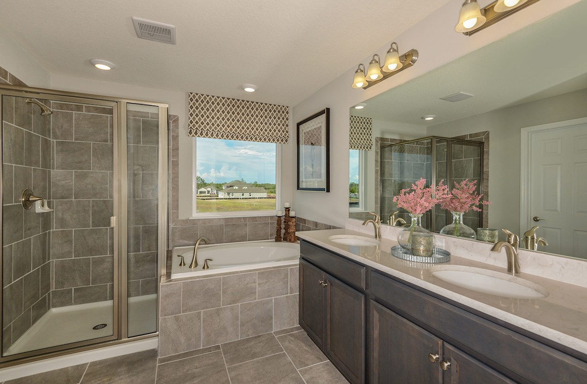 spa-inspired master bath