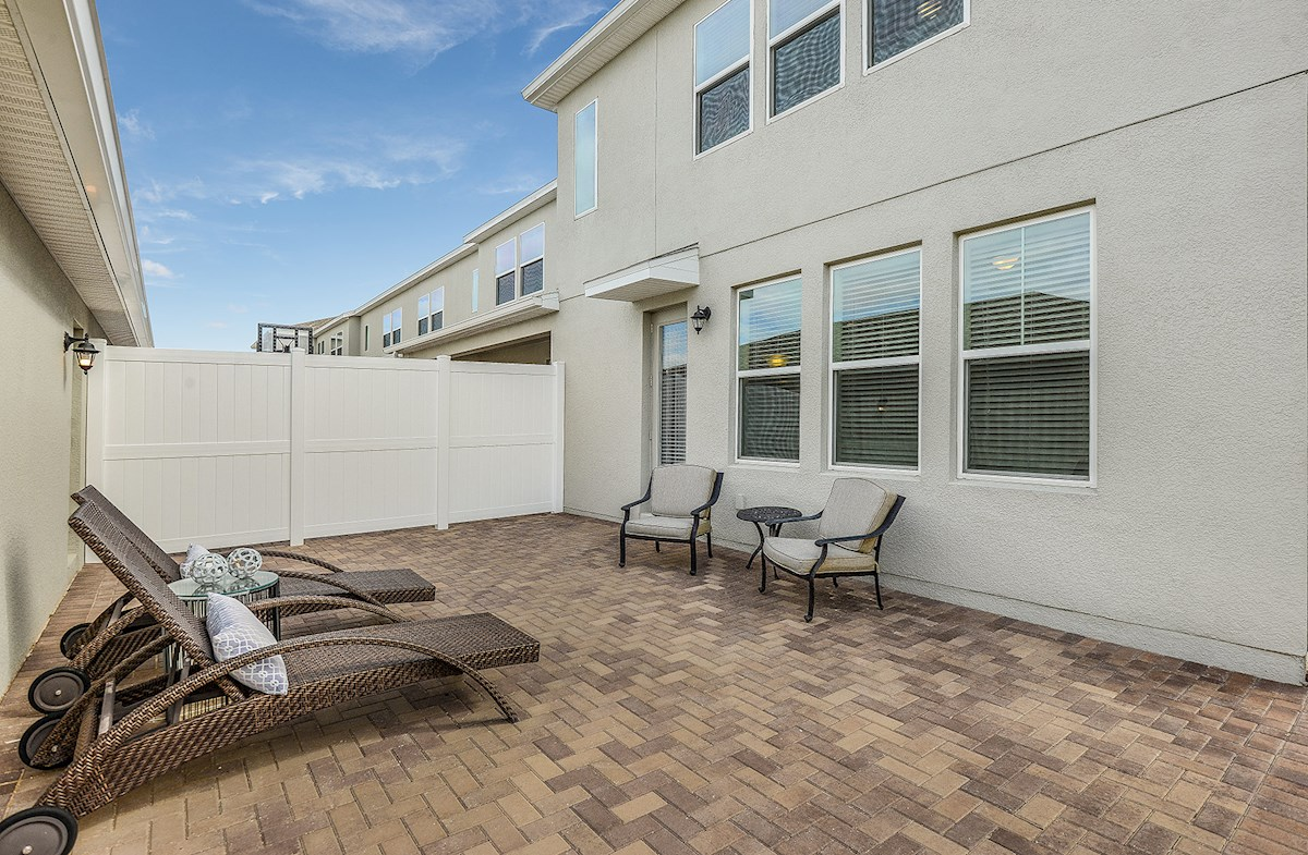 Summerlake Townhomes Concord brick paver courtyard