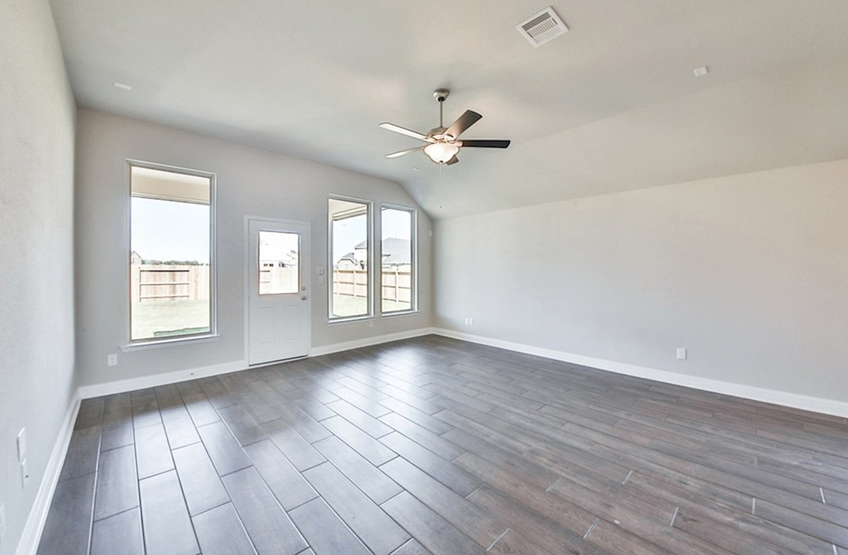 Anderson quick move-in great room with tile flooring