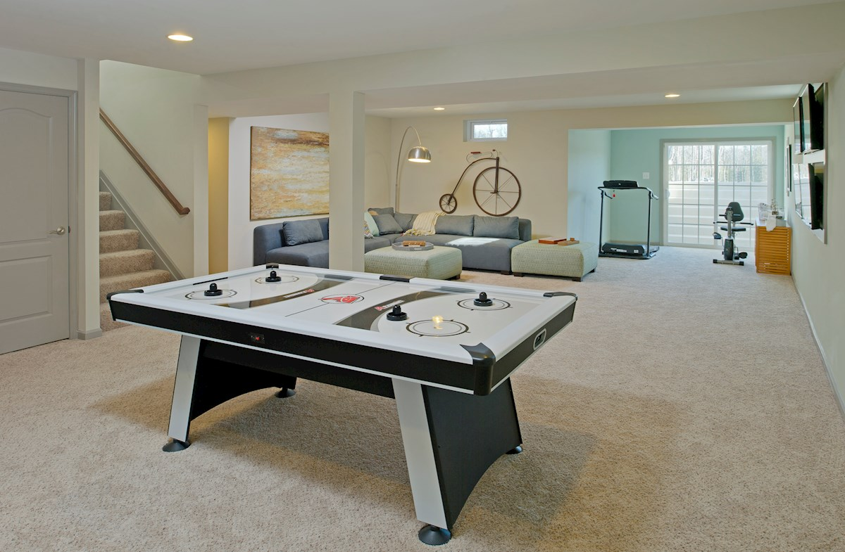 The Preserve at Windlass Run - Single Family Homes Pembrooke versatile finished basement