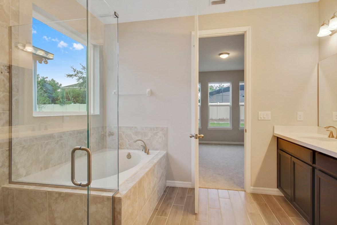 Durham quick move-in spa-inspired master bath