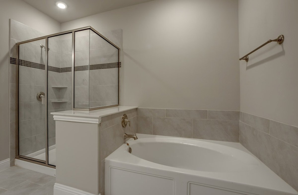 Sherwood quick move-in master bath with separate tub and shower