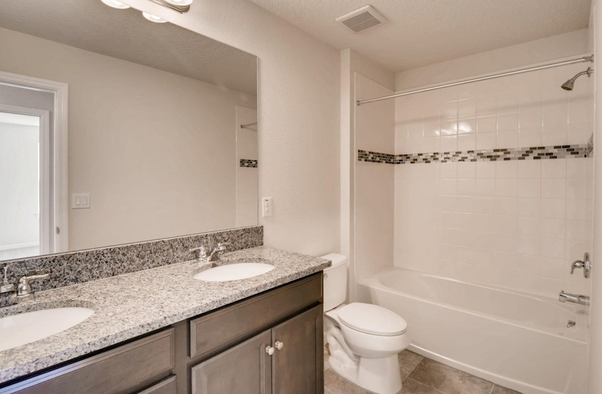 Captiva quick move-in Secondary bathroom with dual sink vanity