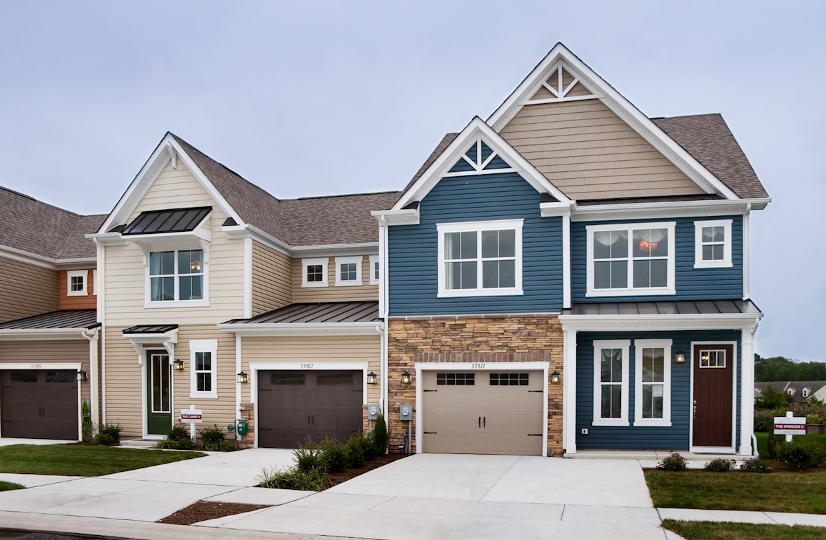 Spencer II American Heritage Shingle quick move-in Spencer II exterior with stone accent