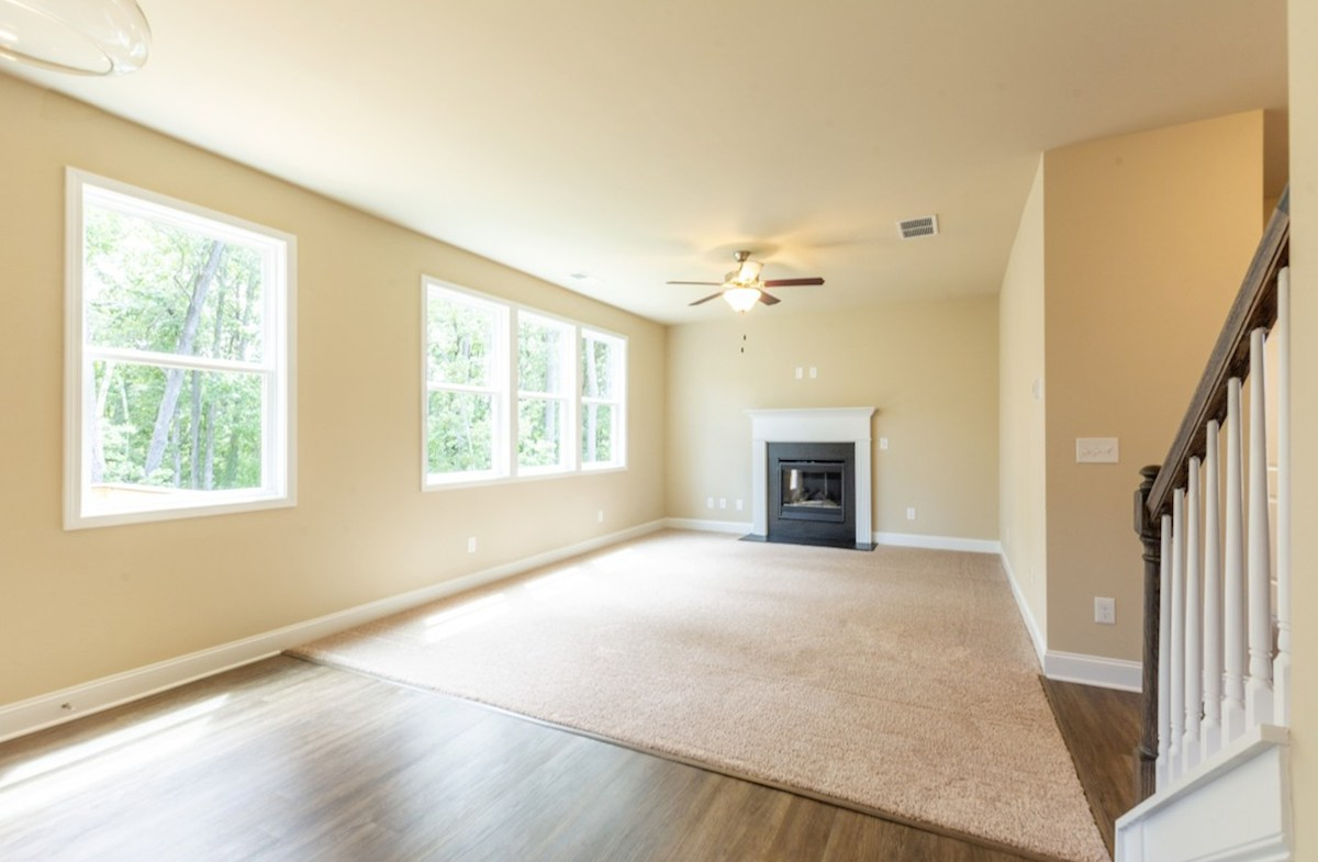 Milford Point Duval Family Room with fireplace