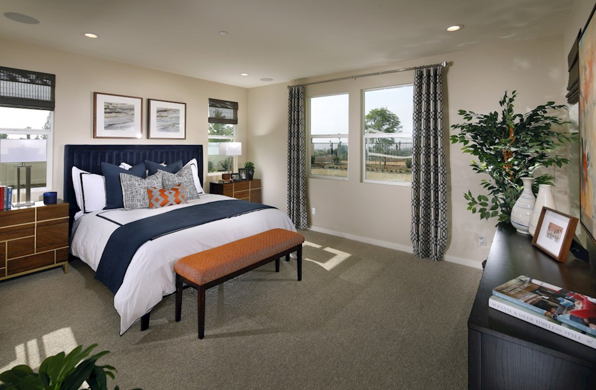 Solstice Alder Master bedroom located in the back of home for best exterior views and natural light