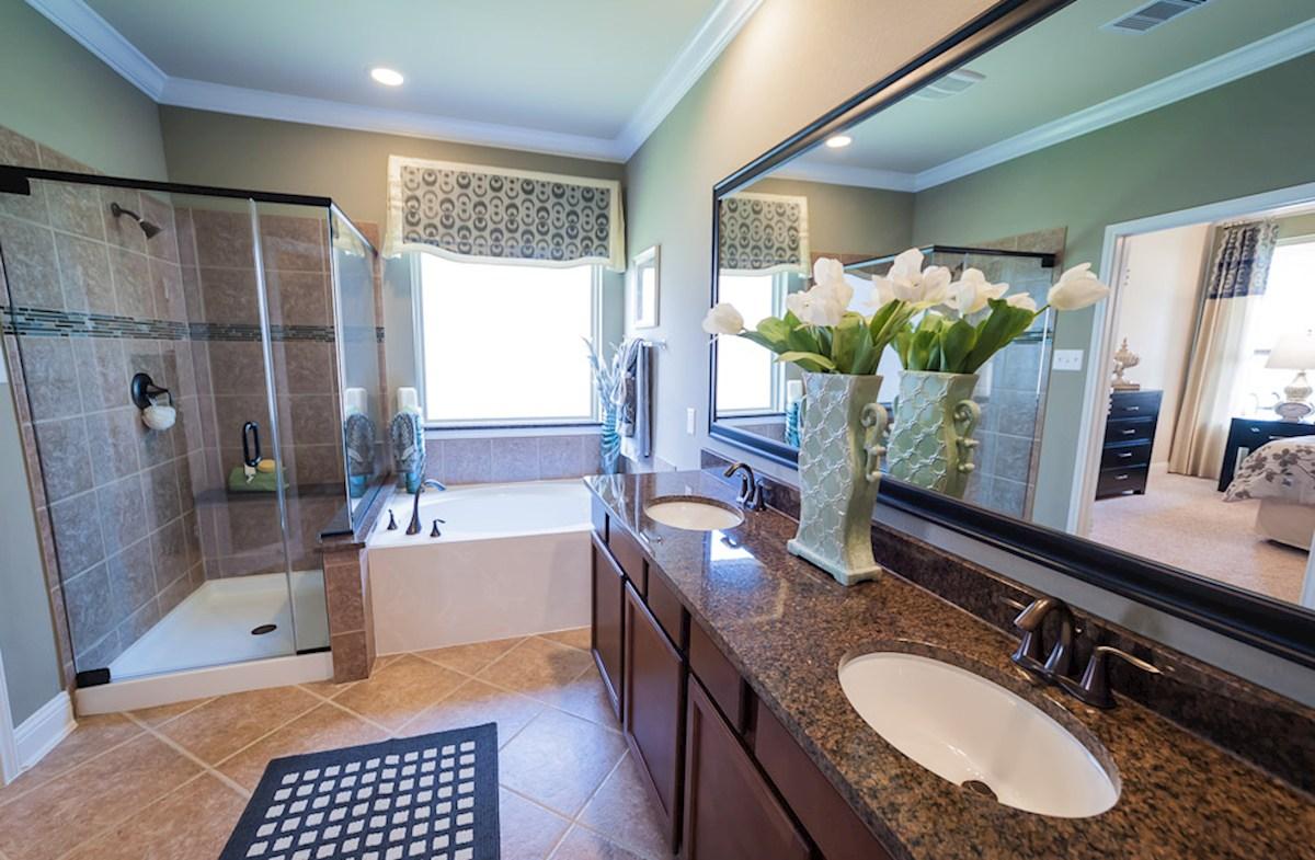 Young Ranch Capri spa-like master bathroom