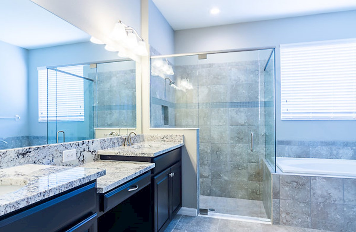 St. Augustine III quick move-in Enjoy a spa-inspired master bathroom