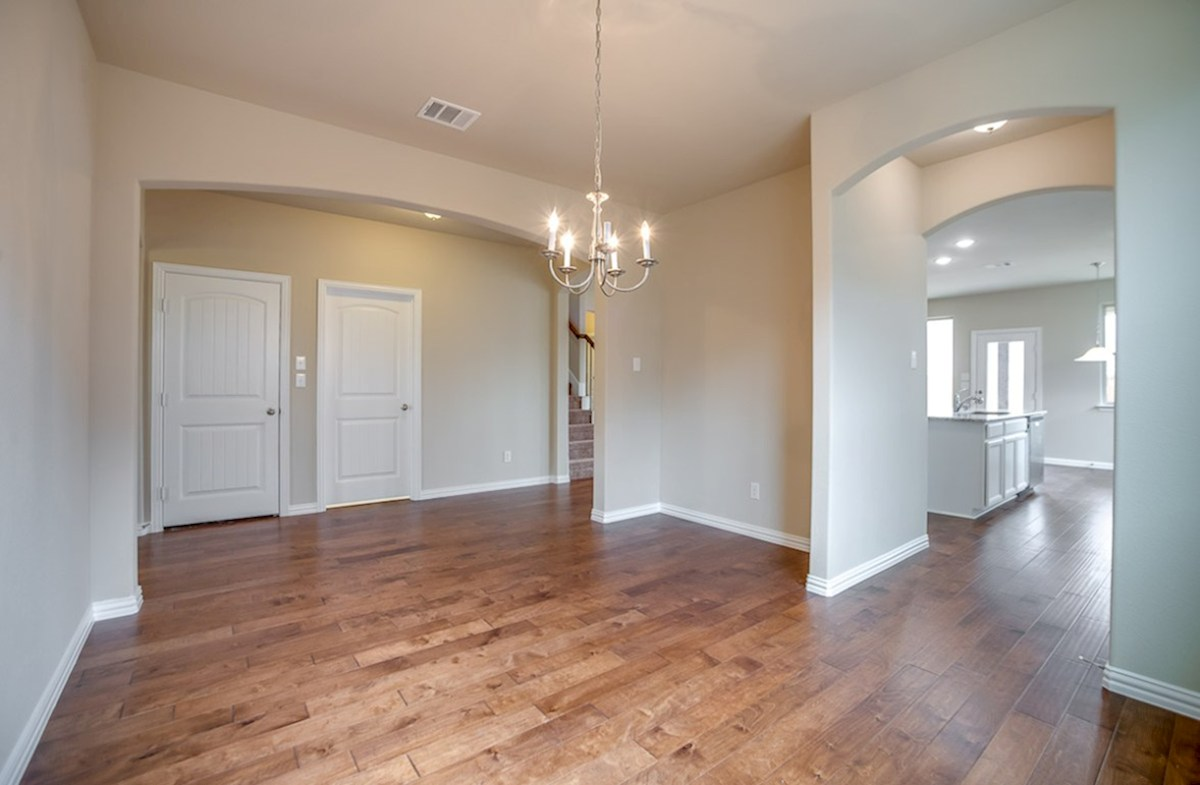 Avalon quick move-in formal dining with wood flooring
