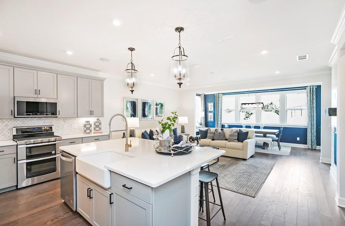 kitchen overlooking great room