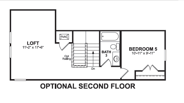 Paid options for Optional 2nd Floor