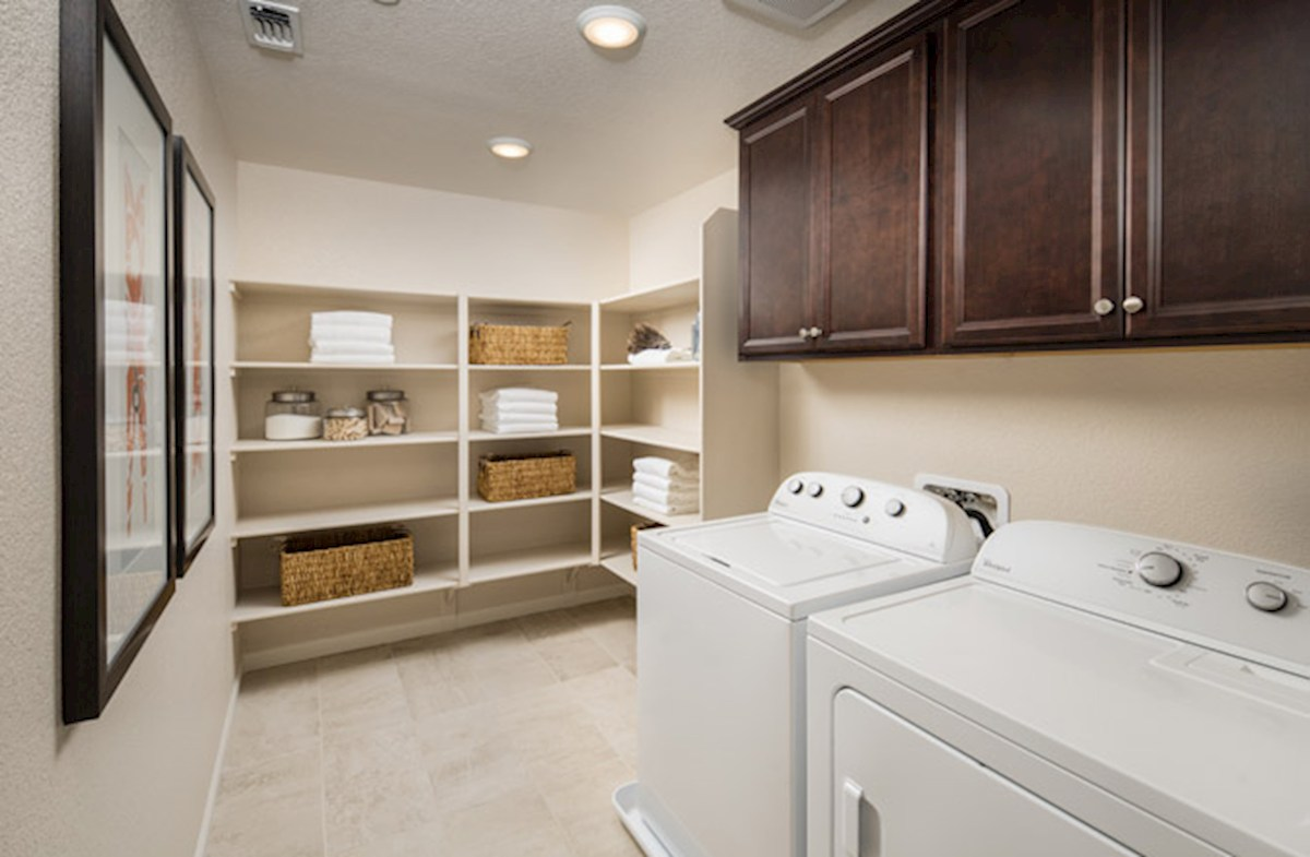 Natomas Field Residence 3 large laundry room