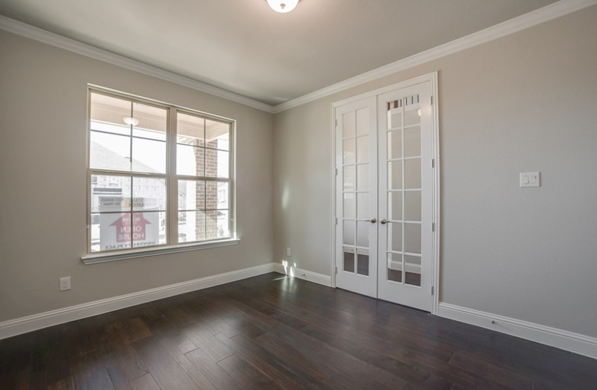 Aberdeen quick move-in study with French doors with wood floors