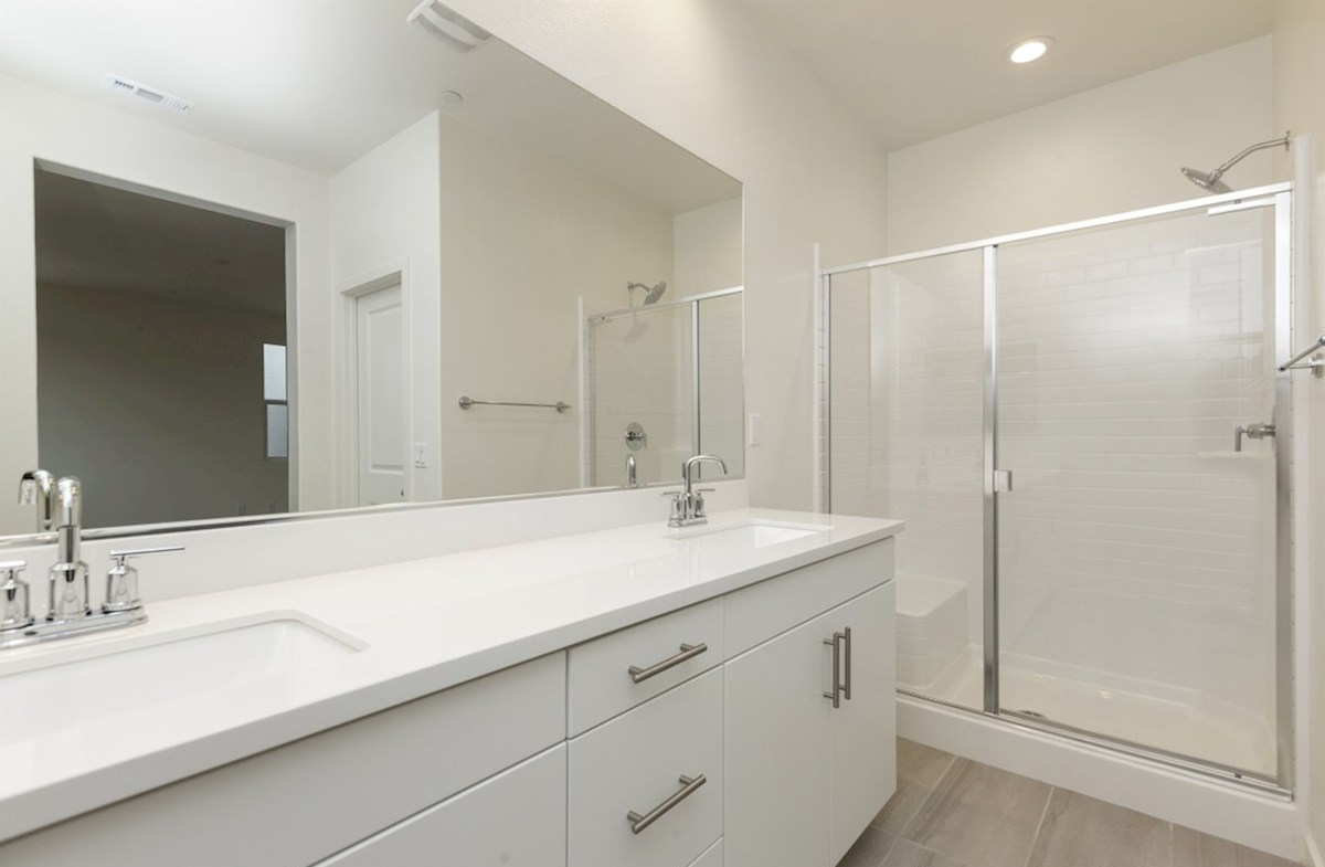 Mission Lane Pinyon spacious master bathroom with walk-in shower