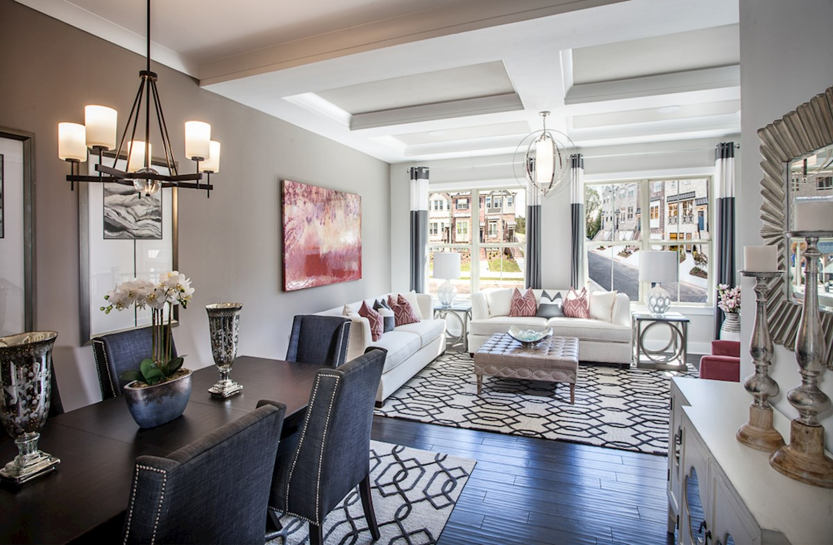 Towns at North Peachtree Camden open-concept living space