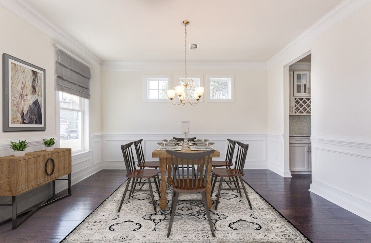 Bentley Park White Oak formal dining room