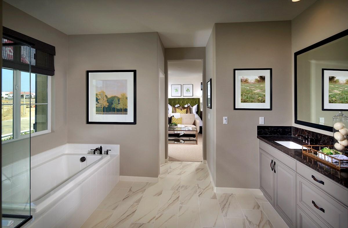 Mission Lane Peony privite master bathroom